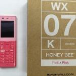 willcom HONEY BEE 買取 willcom WX-07K ピンク&ピンク ホワイト&ホワイト バイオレット&ピンク