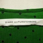 下北沢 古着 買取 DIANE von FURSTENBERG ダイアン フォン ファステンバーグ ドット刺繍 カシュクールワンピース 緑 グリーン 黒 ブラック  買取致しました!-DOSTYLE下北沢店