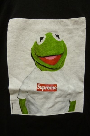 下北沢 古着 買取 Supreme × Kermit the frog シュプリーム × カーミット ザ フロッグ 08SS カーミット Box Logo Tee ボックスロゴ 半袖 プリント Tシャツ 黒 買取致しました!-DOSTYLE下北沢店